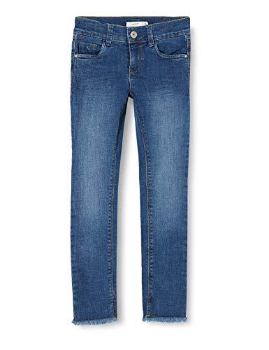 Name IT NOS Girls NKFPOLLY DNMTEJA 2324 Ancle Pant NOOS Jeans, Medium Blue Denim, 158