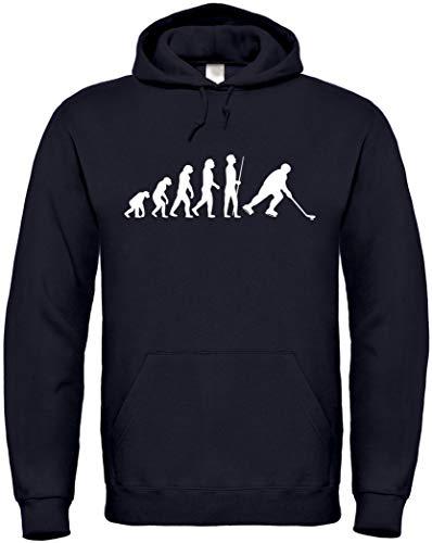 Textildruck Universum Hoodie Eishockey Evolution S bis 5XL (Schwarz, XL)