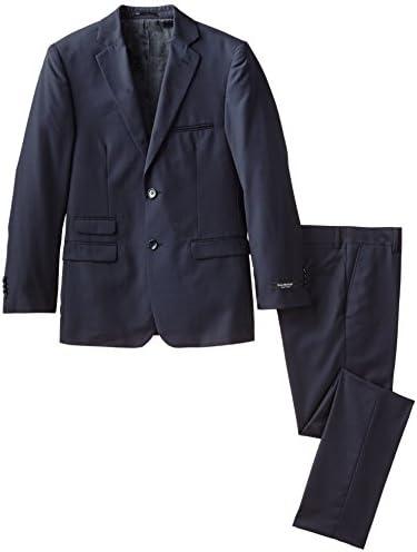 Isaac Mizrahi Black Label Big Boys Slim Fit Wool 2 Piece Solid Suit Navy 8 product image