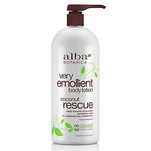 Our #7 Pick is the Alba Botanica Very Emollient Coconut Rescue Body Lotion
