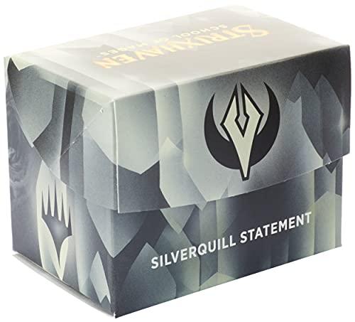Magic The Gathering Packaging Version Strixhaven Commander Deck-Silverquill Statement (Schwarz-Weiß) Minimale Verpackungsversion