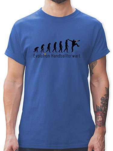 Evolution - Handballtorwart Evolution - S - Royalblau - Handball t-Shirt - L190 - Tshirt Herren und Männer T-Shirts