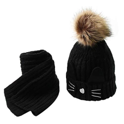 Malloom® niños Chicas sombrero bailey cúpula de la boina (negro) 59d14359b8d