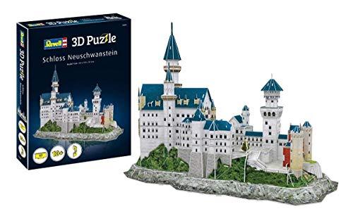 Revell 3D Puzzle 205 Schloss Neuschwanstein von Ludwig II. von Bayern Zubehör, Farbig
