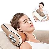 Almohada de masaje químico eléctrica, para el cuello del espalda, masaje cervical y lumbar con calador.
