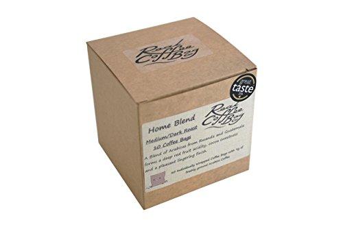 Home Blend Bolsas de café molidas frescas de árabe tostadas individualmente envueltas en forma individual, paquete de 10 bolsas por Real Coffee Bag Co.