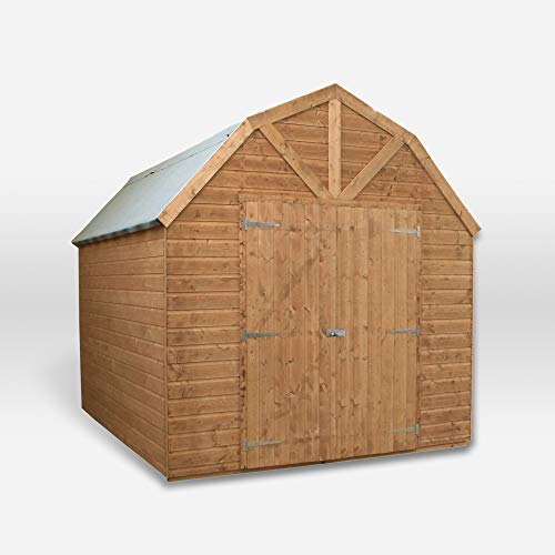 Waltons Wooden Garden Shed Dutch Barn 10x8 Outdoor Storage Workshop, Shiplap, Double Door (10 x 8 / 10Ft x 8Ft)