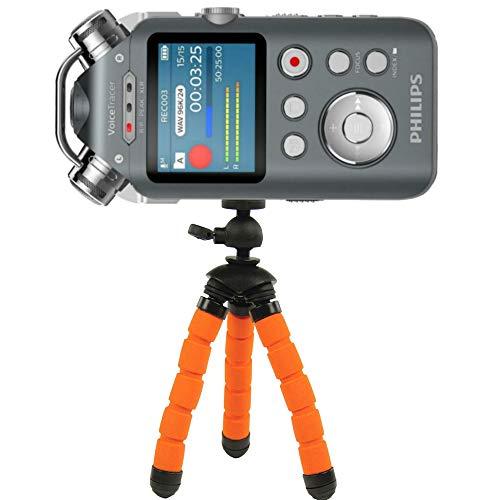 TronicXL Profi TRIPOD 13cm Stativ Flexibel Diktiergerät Audiorekorder Aufnahmegerät 1/4 Zoll zb kompatibel für Roland Philips Tascam Sony Olympus Zoom H4n Pro H5 H6 mobile Recorder H2n Halterung