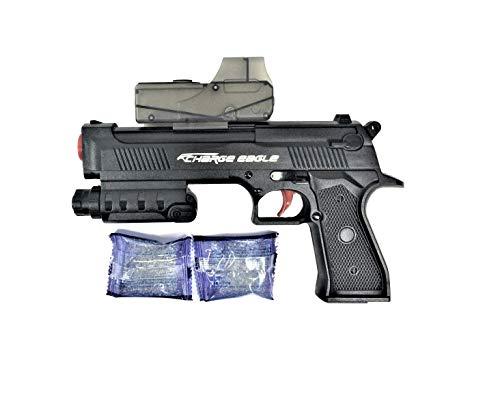 GF Toys Pistola  Desert Eagle Pistol, dispara Bolas de Agua. Incluye 2.000 Bolas de Agua y 2 Dardos Blandos. Medidas de la Pistola: 24x17x4 cms. Aprox..