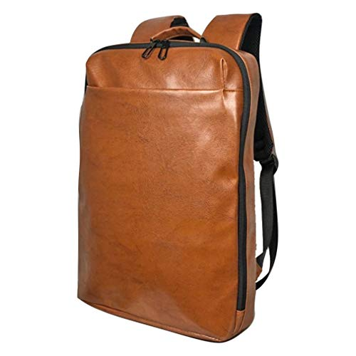 [Smart Traveler] リュック ビジネスリュック バックパック メンズ 薄型 薄い スリム 軽量 軽い ブラウン 茶色 ( アフリカンキャメル )