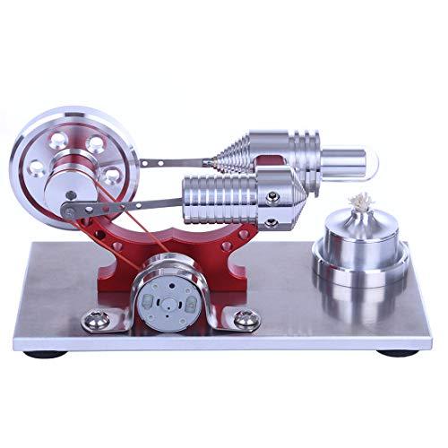 TETAKE Stirlingmotor Bausatz Metall Sterling Motoren Stirling Engine Dampfmaschine Pädagogisches Spielzeug Geschenk für Kinder Erwachsene Technikinteressierte Bastler