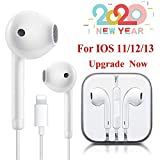 Lighting Connector Earbuds Earphone Wired Headphones Headset with Mic and Volume Control,Isolation Noise,Compatible with Apple iPhone 11 Pro Max/Xs Max/XR/X/7/8 Plus Plug and Play Cycling GPS Units