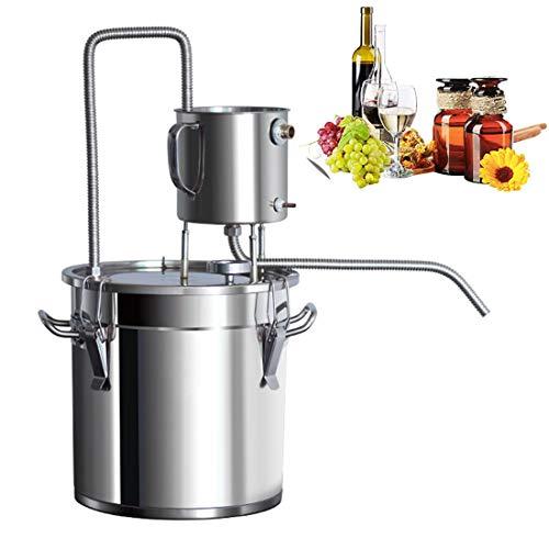 LTLWSH Moonshine Still Alembic Spirits Kit Caldera de vinificación con Bomba de termómetro destilador de Aceite Esencial de Alcohol para Whisky Brandy Vodka, Acero Inoxidable,50L