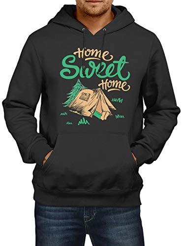Shirt Happenz Festival Premium Hoodie Saufen Party Zelten Herren Kapuzenpullover, Farbe:Schwarz;Größe:S