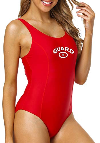 Adoretex New Women's Guard One Piece Swimsuit with Built-in Bra (FGP16) - Red - 14