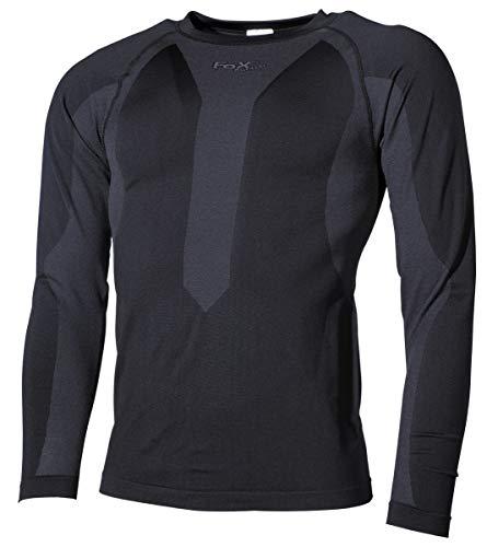 Thermo-Sport-Funktions- Unterhemd, langarm, schwarz Größe: M