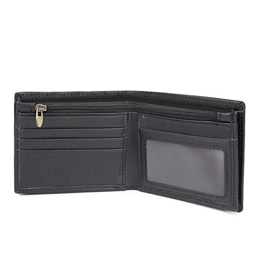 Polare Men's RFID Blocking Napa Real Leather Bifold Wallet With Gift Box (Small)