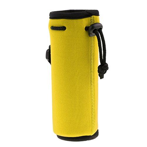 Milageto Portador de Botella de Agua de Neopreno 500ML con Aislamiento de Viaje - Amarillo
