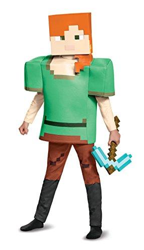Alex Deluxe Minecraft Costume, Multicolor, Large (10-12)