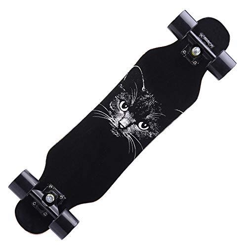 HUADUO Maple Longboard Skateboard, 31-Zoll-Anfänger Skateboard Cruiser Skateboard Kinder Erwachsenen Brush Street Dance Board-D1