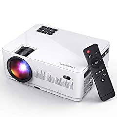 [REMARKABLE BRIGHTNESS AND CLARITY]: DBPOWER L21 mini LCD video projector, upgraded bright to 180ANSI-5000Lux, 3000:1 contrast ratio, 1280x720p native resolution, supporting 1920x1080p highest resolution makes it brighter than other comparable Mini p...