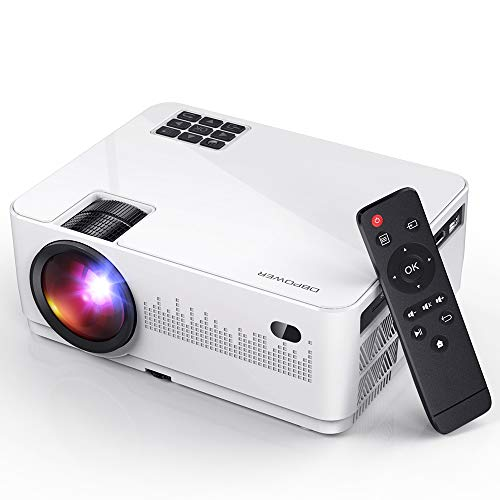 DBPOWER L21 LCD Video Projector, Full HD Mini Movie Projector with HDMIx2/USBx2/AV Ports