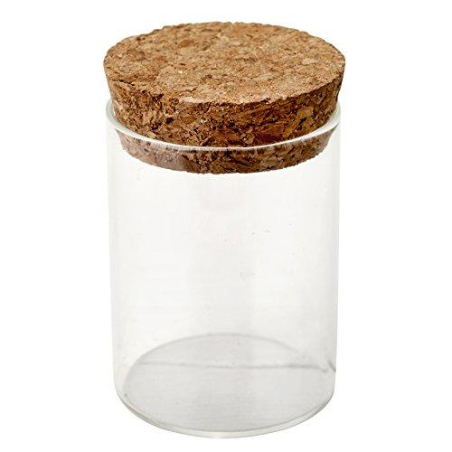 Szklany wazon z zamknięciem korkowym Ø 4,5x6,5 cm