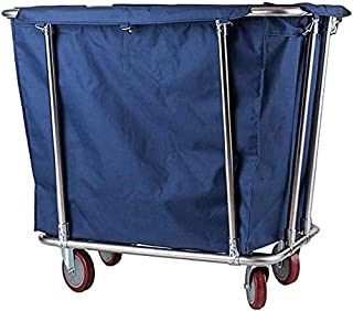 Panier à linge à roulettes pour usage médical ou domestique avec sac amovible Marron