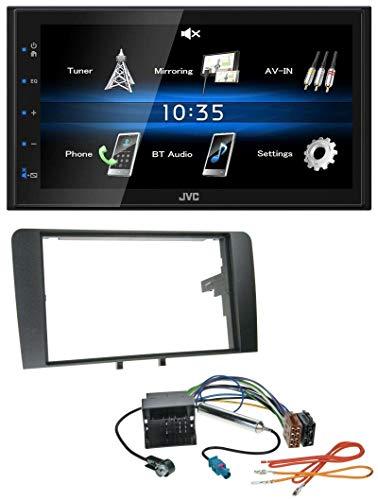 JVC KW-M24BT 2DIN Bluetooth MP3 AUX USB Autoradio für Audi A3 03-12 8P Quadlock
