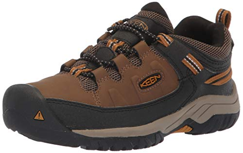 KEEN Litle Kid's Targhee Low Height Waterproof Hiking Shoe, Dark Earth/Golden Brown, 11 LK (Little Kid) US
