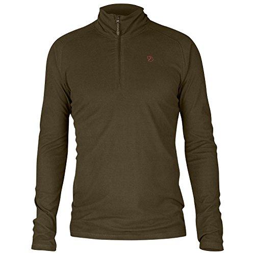 FJÄLLRÄVEN Pine Half Zip M Sweat-Shirt Homme, Dark Olive, FR (Taille Fabricant : XL)