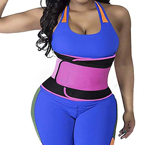 QARYYQ Cinturón de Entrenamiento de la Cintura de la Mujer Cinturón Trimmer Fitness Deportes Soporte Lumbar Protector de presión Cinturón de Entrenamiento Ajustable Soporte para la Espalda