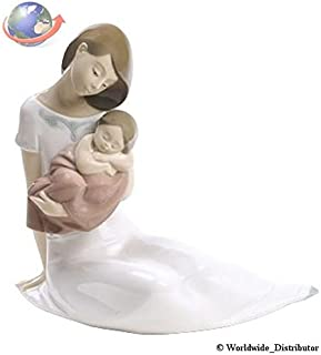 Nao Porcelain by Lladro LIGHT OF MY DAYS (GIRL) ( MOTHER HOLDING BABY GIRL ASLEEP ) 2001705