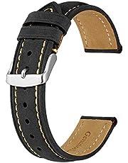 BISONSTRAP Cinturini Orologio, Cinturini di Ricambio in Pelle Vintage, Larghezza Cinturino 14mm 15mm 16mm 17mm 18mm 19mm 20mm 21mm 22mm 23mm 24mm