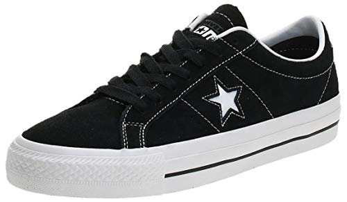 Converse Skate One Star PRO Ox, Scarpe da Ginnastica Basse Unisex-Adulto, Nero (Black/White/White 001), 45 EU