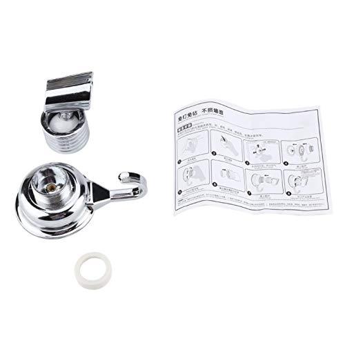 Soporte para cabezal de ducha fácil de instalar Soporte para auricular Duradero ajustable para el hogar con gancho para toallas