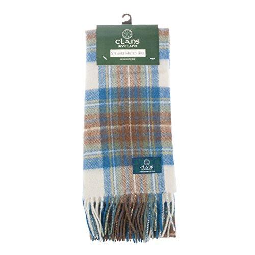 Clanes Of Scotland pura lana bufanda de tartán escocés
