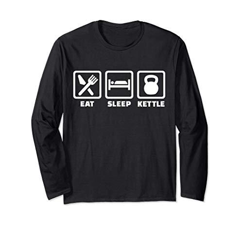 Mangia il bollitore per il sonno kettlebell Maglia a Manica