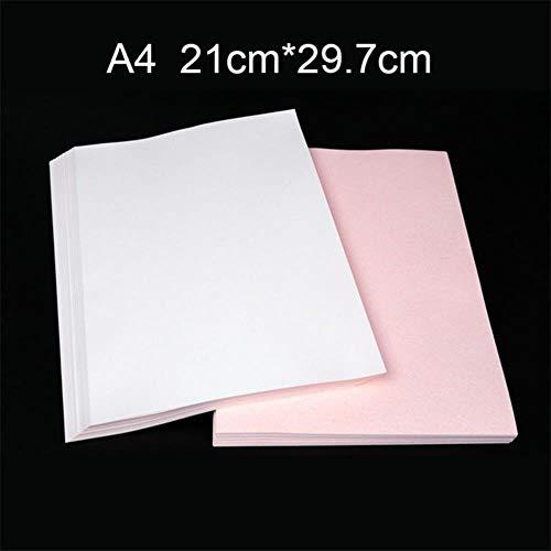 10 stks/set a4 warmteoverdracht sublimatie papier voor diy t-shirt cups tassen schilderen ijzer op papier voor handgemaakte lichte stof doek, a4