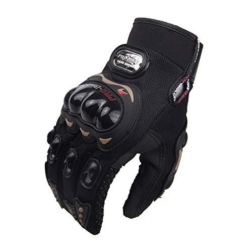 Motorradhandschuhe Herren Motocross Handschuhe Vollfinger Reiten Motorrad Moto Handschuhe Motocross Guantes Handschuhe-MCS-01C Black-1-XXL