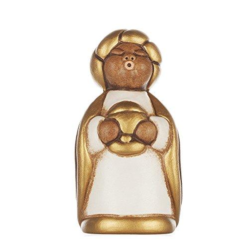 THUN - Re Magio Melchiorre con Oro - Versione Bianca - Statuine Presepe Classico - Ceramica - I Classici