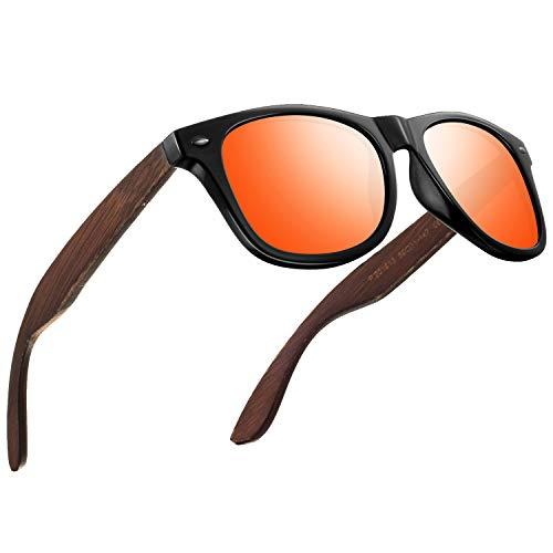 Polarisierte Sonnenbrillen Herren Vintage Stil Sonnenbrillen Damen-Sport im Freien Golf Radfahren Angeln Wandern FD2150 (Z-Orange-Klassischer, 60)