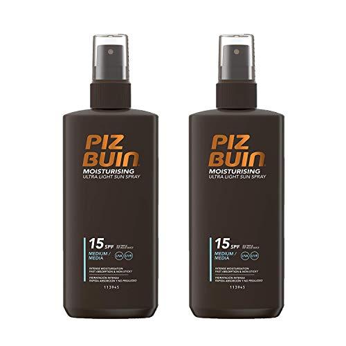 2x Piz Buin Spray solar hidratante ultraligero LSF15 Spray solar de 200ml cada uno