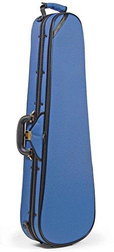 Geigenkoffer 4/4, leicht und stabil - ROKKOMANN Geigenkasten SuperLight Formetui (hellblau)