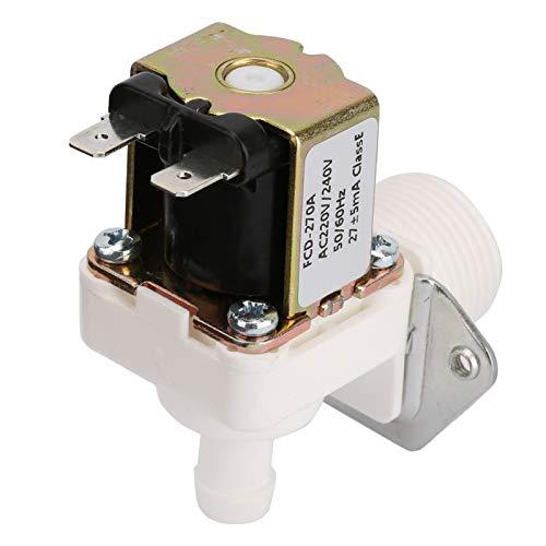 Válvula solenoide de plástico, CA 220 V N/C Válvula solenoide eléctrica de plástico de tipo normalmente cerrado para máquina de hielo, para control de entrada de agua