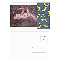 ホ短調xjj油絵 バナナのポストカードセットサンクスカード郵送側20個