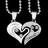 Collier Cœur Pendentif Couples Hommes Femmes I Love You Meilleure Amie Amoureux...
