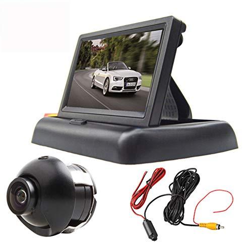 Boomboost 4,3 Pouces Pliable TFT LCD Voiture arrière Vue arrière Moniteur 22,5 cm 360 degrés caméra Vision Nocturne + vidéo transmetteur et récepteur Kit