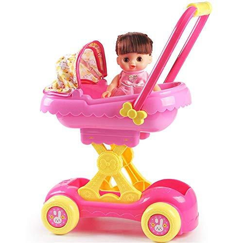 BTTNW Juguete de Cochecito de bebé Biplaza Muñeca Cochecito de Juguete Chica de Juegos for niños bebé Casa de Simulación...
