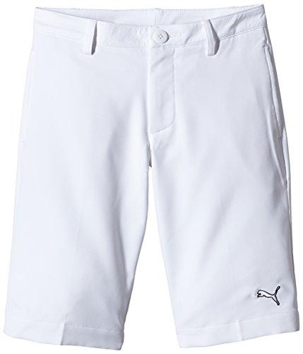 PUMA Golf Tech Kinder Shorts 10 Jahre weiß - weiß